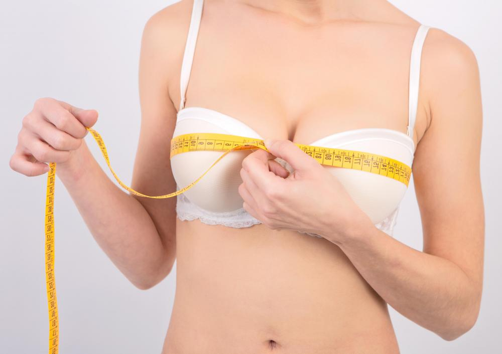 Measuring bra size requires using a tailor's measuring tape.