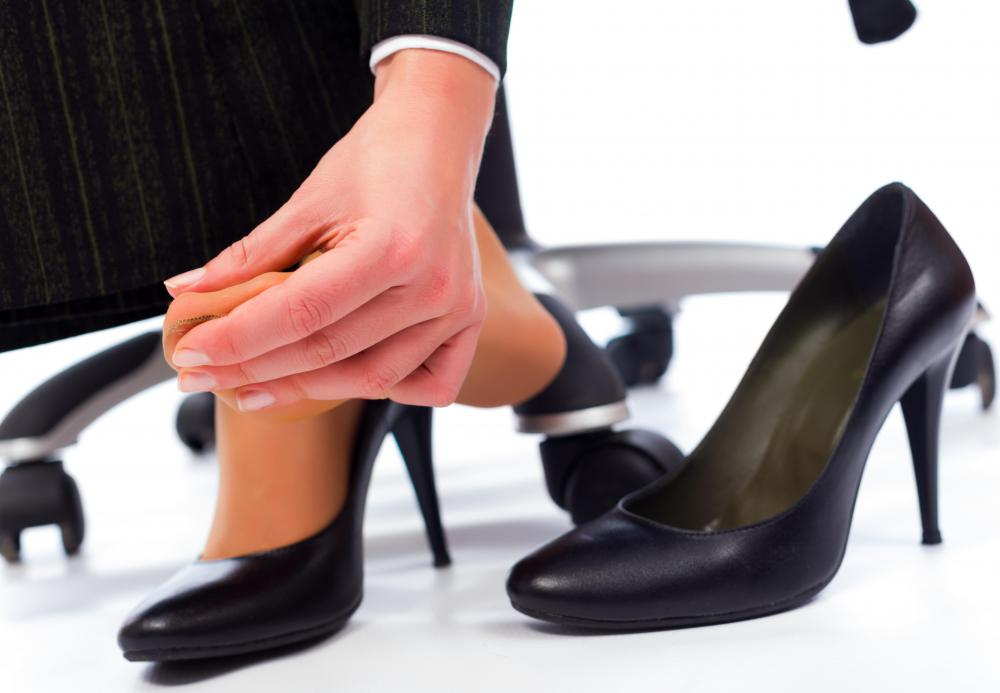 Orthopedic shoes may be worn to compensate for problems caused by wearing high heels.