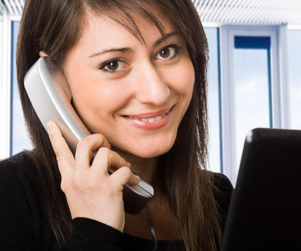 Receptionists use routine greetings to begin and end phone conversations.
