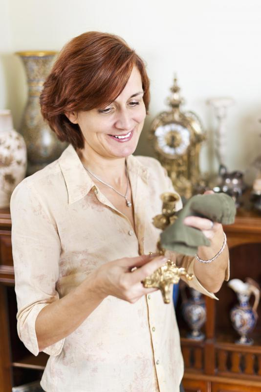 Antique brass pieces are popular items at most antique stores.