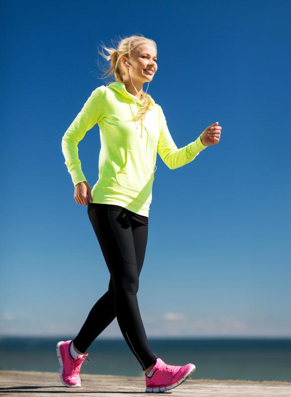 With a lower intensity workout such as walking, a person will have to exercise for a longer period of time.
