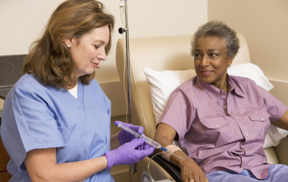 Chemotherapy is often administered at infusion centers, where trained professionals can watch for toxicity and other adverse reactions.