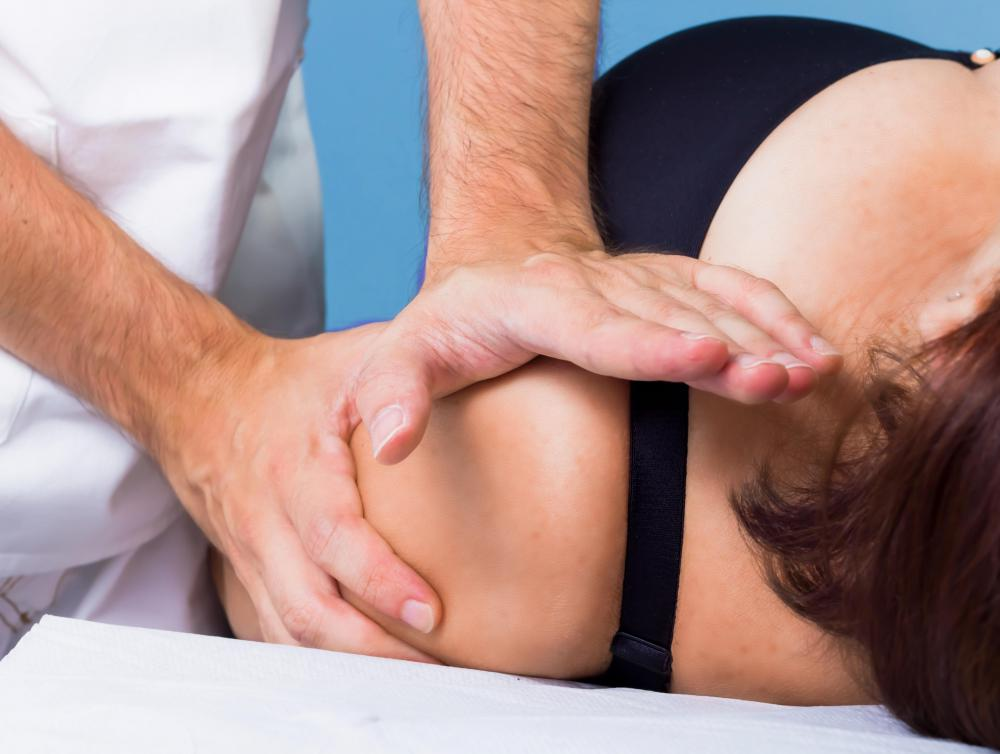 The victim of an acromion process injury may benefit from physical therapy.