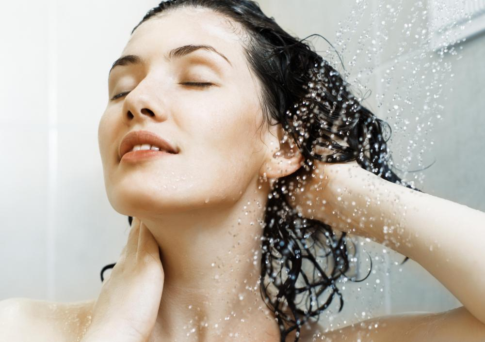 Specially formulated shampoo may help repair damaged hair.