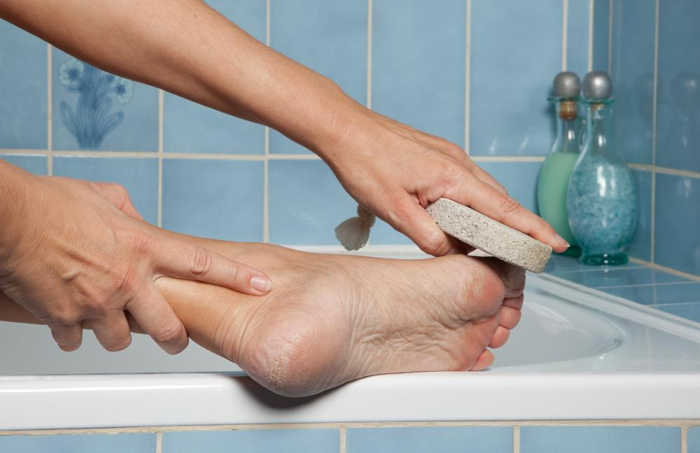 Bath salts are commonly used for exfoliating.