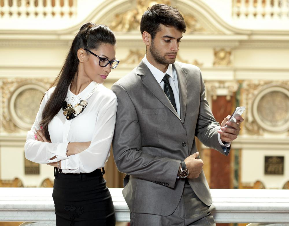 Extreme jealousy can cause women to insist on checking their boyfriend's phones.
