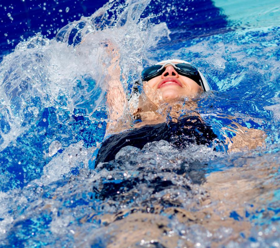 Most swimming competitions will include the backstroke.