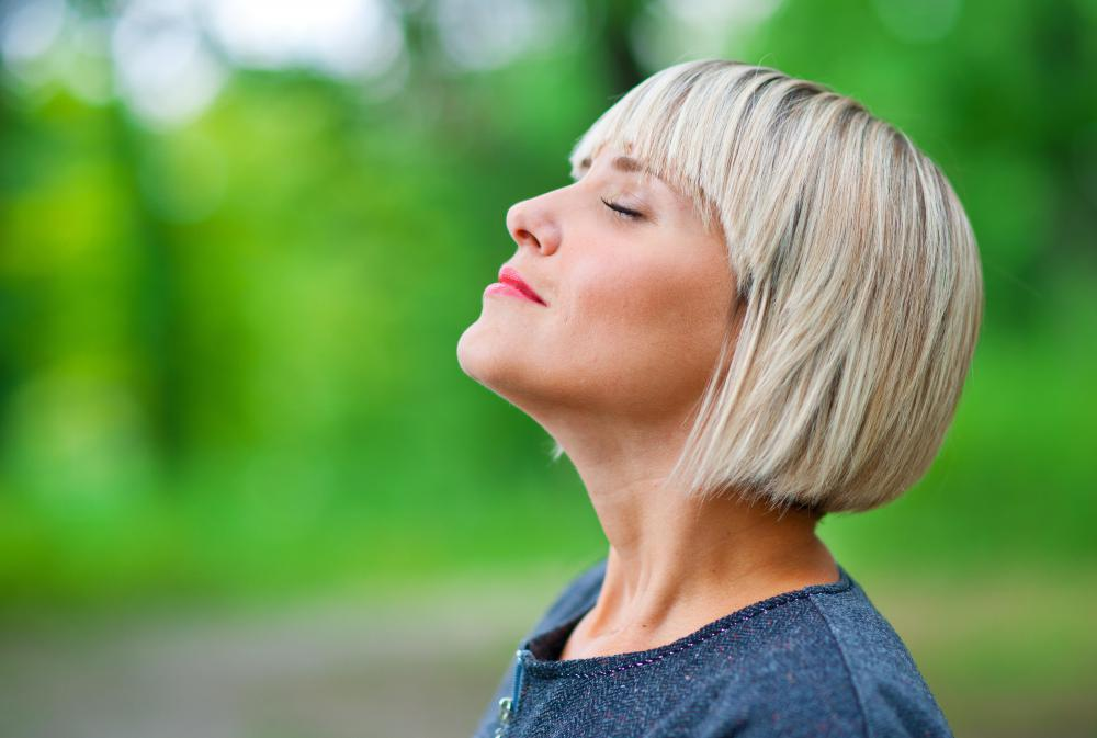 Deep breathing is a type of exercise used to lessen anxiety.