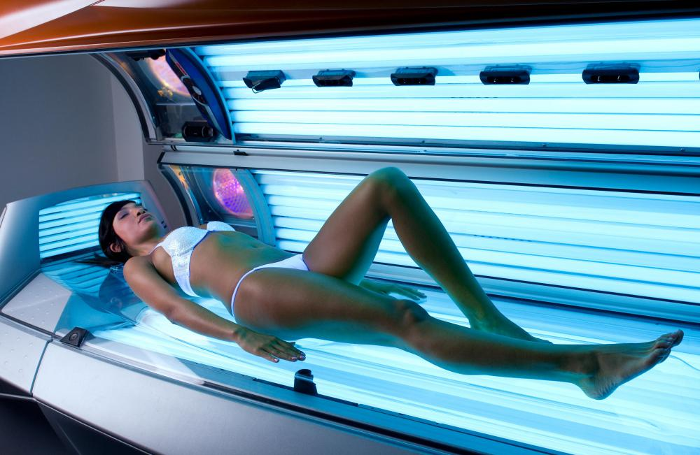 Frequent tanning salon visitors may find their teeth appear whiter due to the contrast with their darker skin tone.