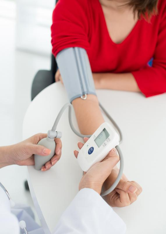 High blood pressure is a risk factor for calcification in the coronary arteries.