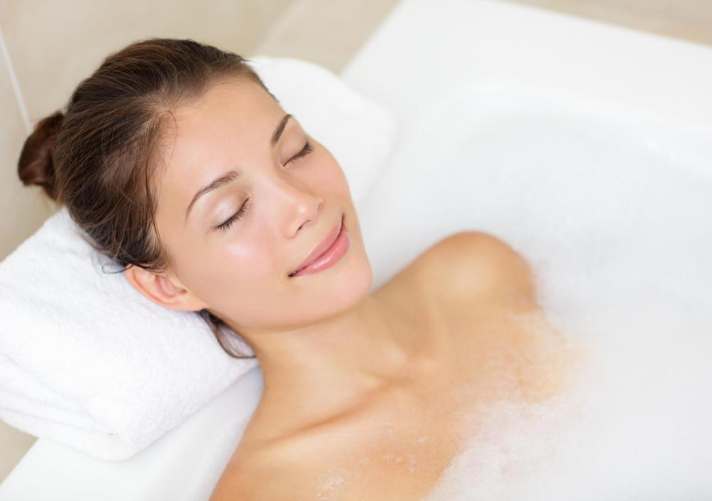 Some resorts will have ways a person can pamper herself, perhaps with a bubble bath.