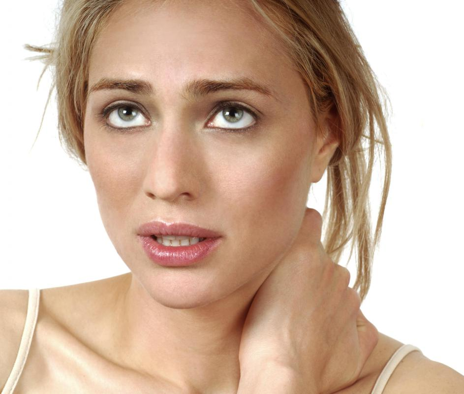 A stiff neck may indicate an abnormally high level of cerebrospinal fluid.