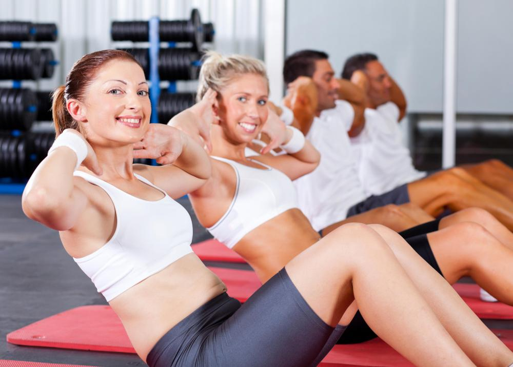 Some exercise classes might focus on working out a specific muscle group, such as abdominal muscles.