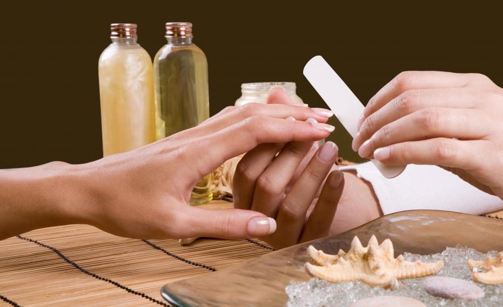 Hand massages are often part of a manicure.