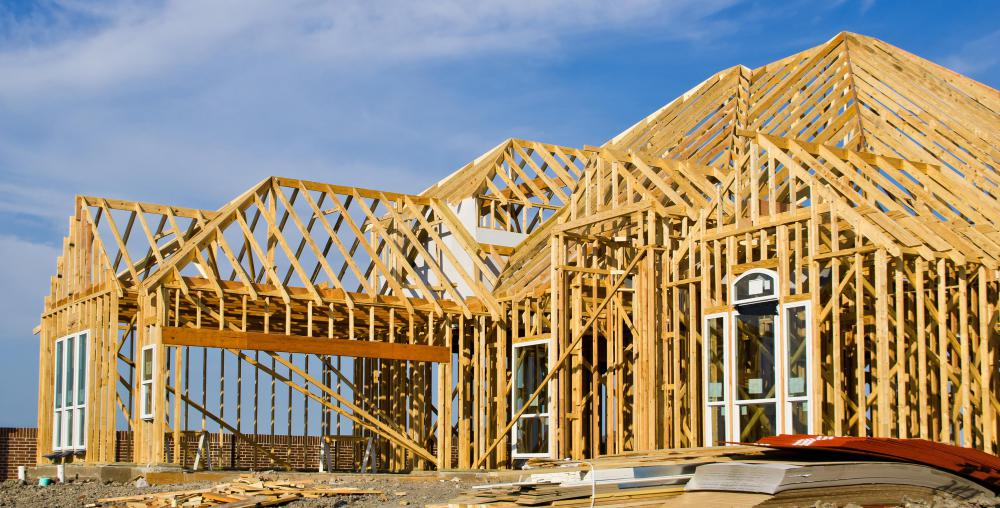 Treated lumber is used for home construction.