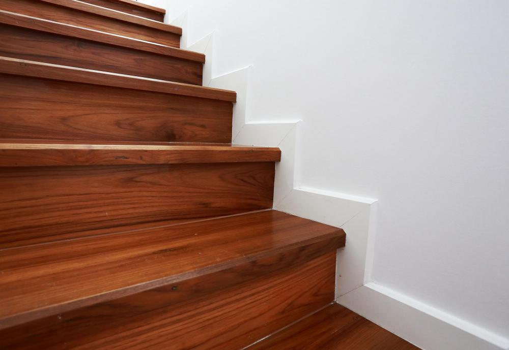 Skirting boards are base boards that follow a stair cause up the wall.