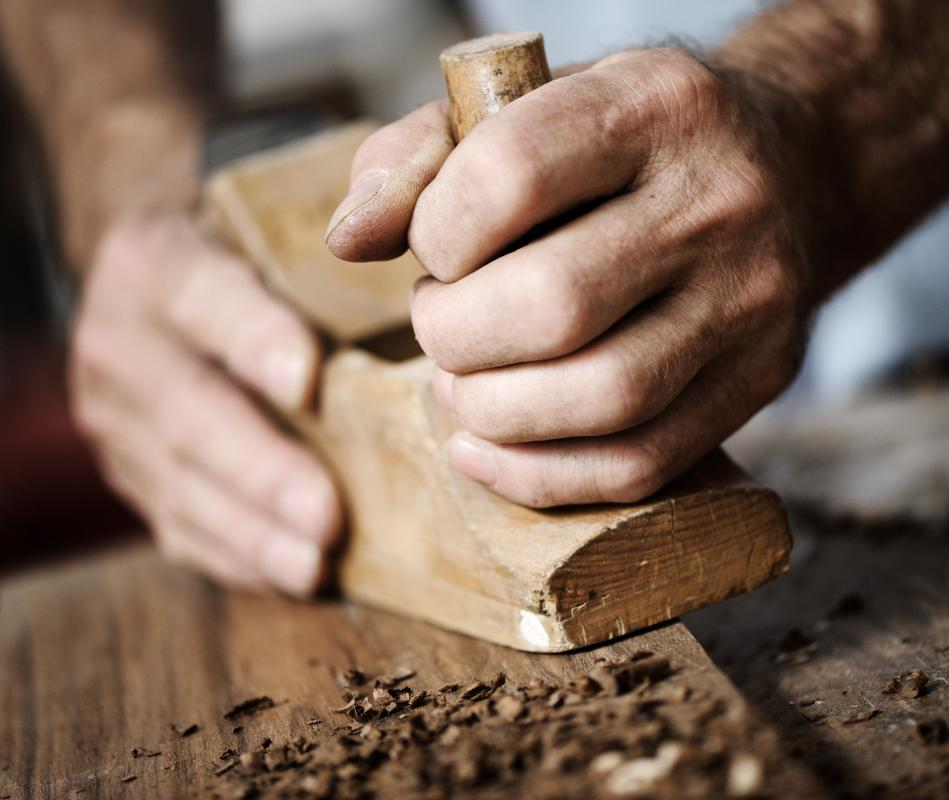 A carpenter is skilled in woodworking.