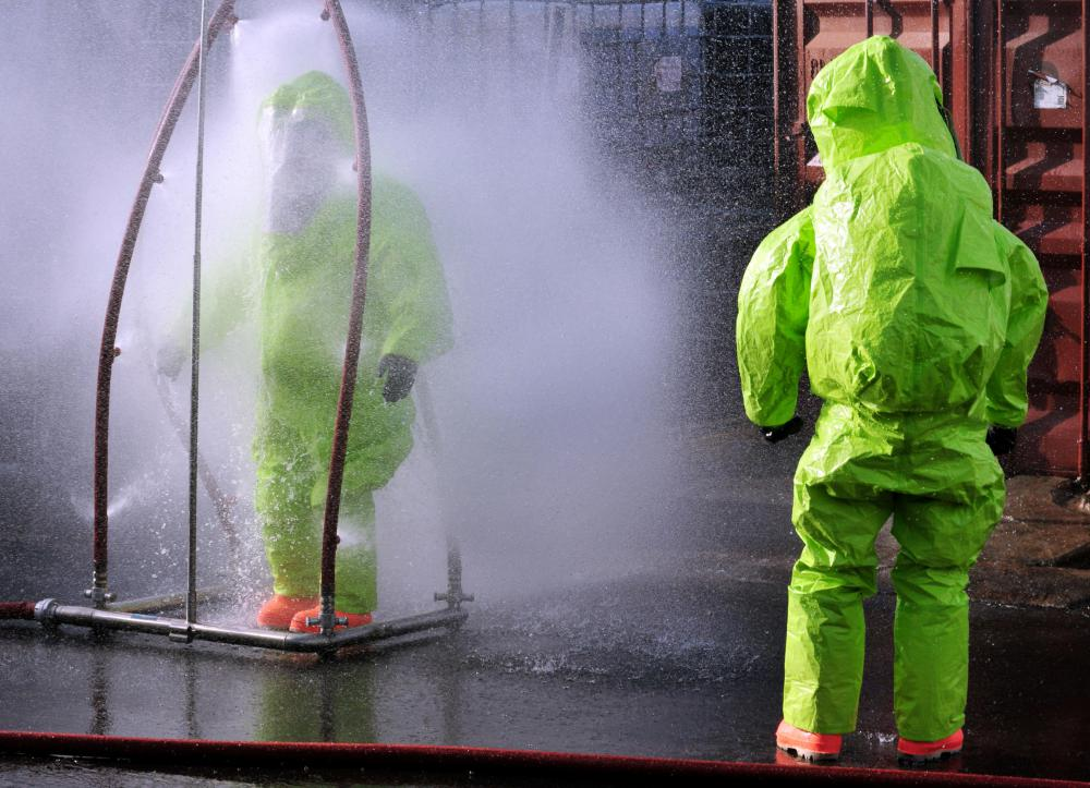 Self-contained environmental suits may help reduce the harmful effects of radiation.