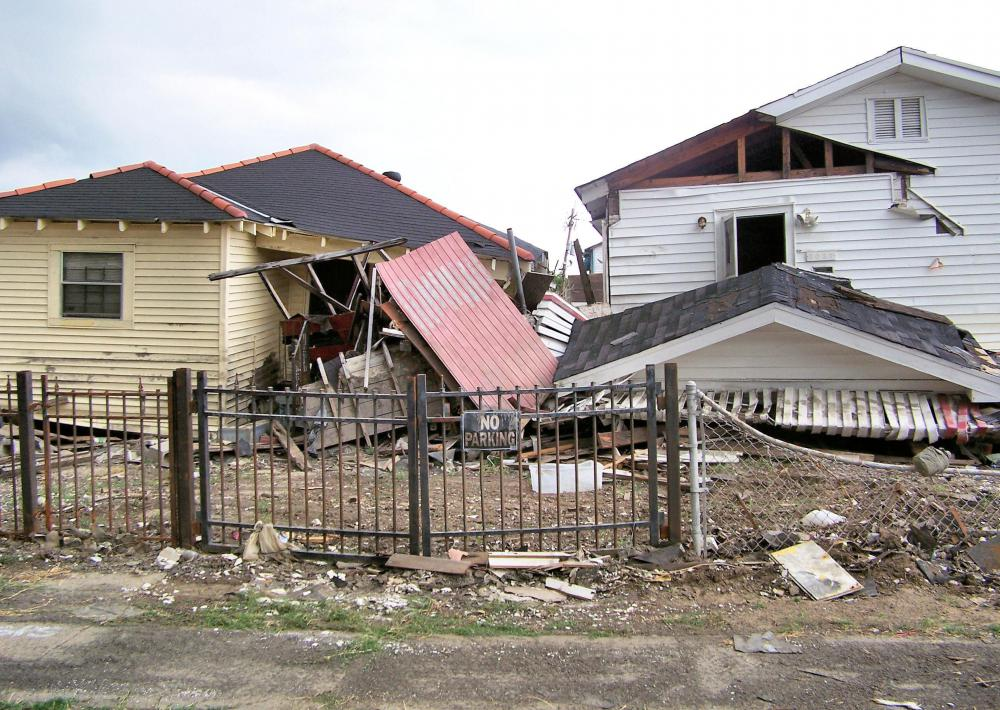 Wreckage left after Hurricane Katrina.
