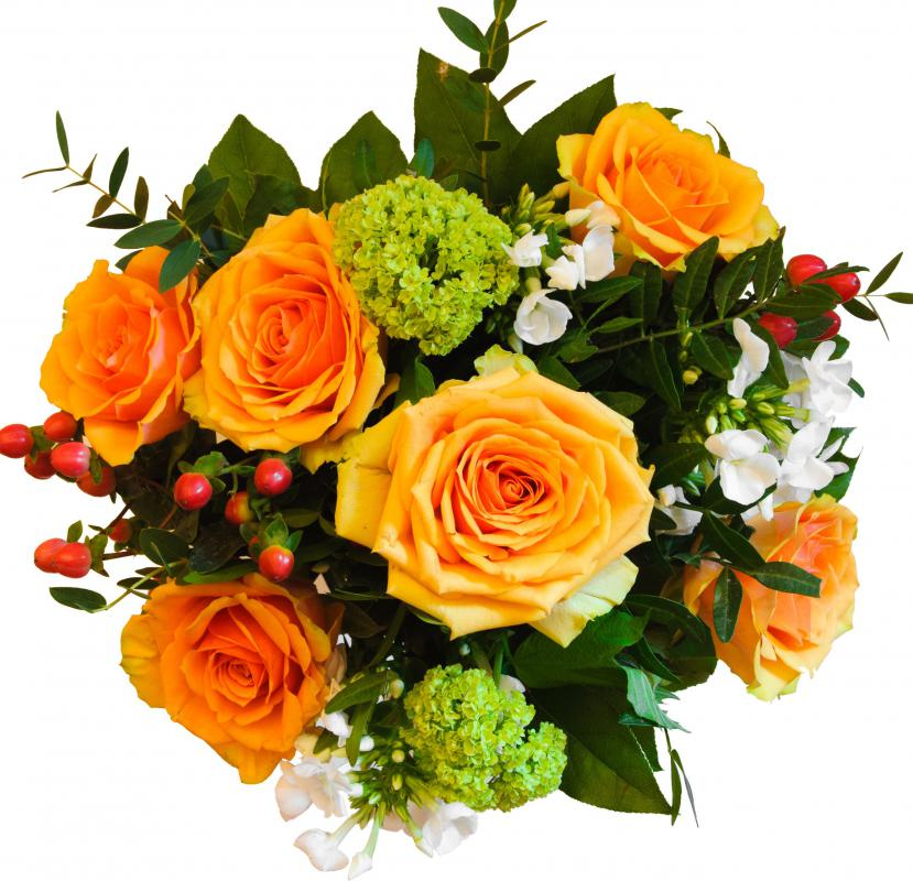 Flower arrangement strives for unity and balance in creating a pleasant display of fresh, dried or silk flowers.