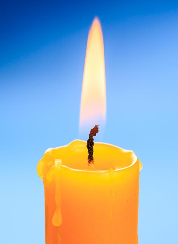 Paraffin wax is used in candle making.