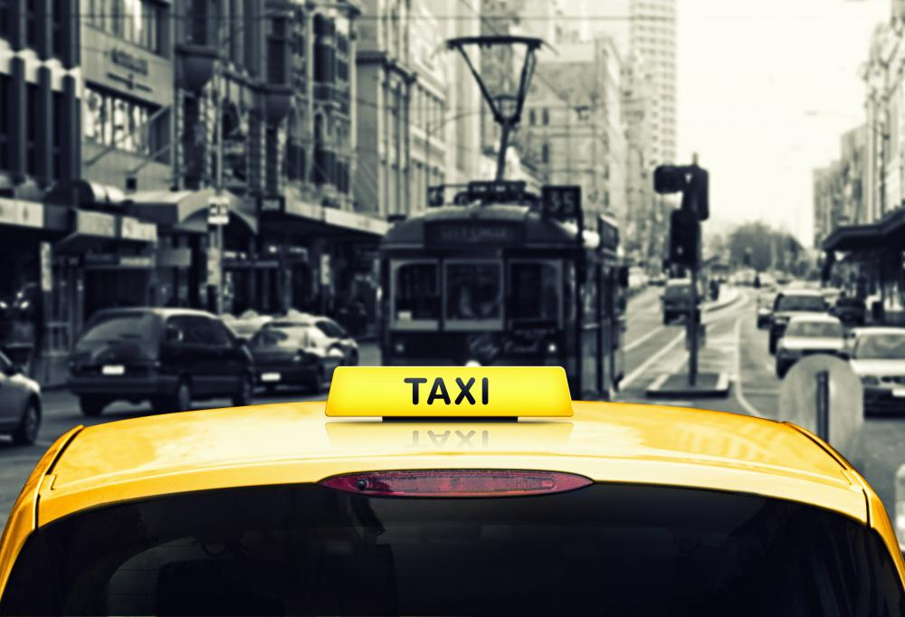 Taxi cabs use a mobile data terminal for communications between fleets of vehicles and a dispatcher.