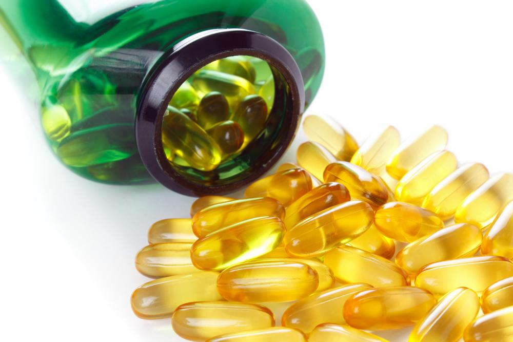 Fish oil may help lower cholesterol levels.