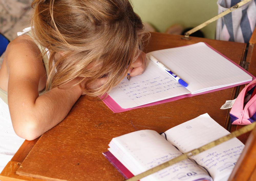 Children with dyscalculia often get upset over math homework.
