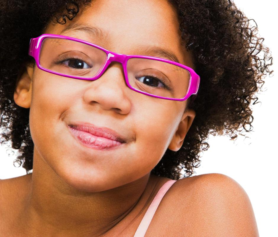 Without corrective glasses, nearsightedness can make it difficult for children to see the blackboard at school.