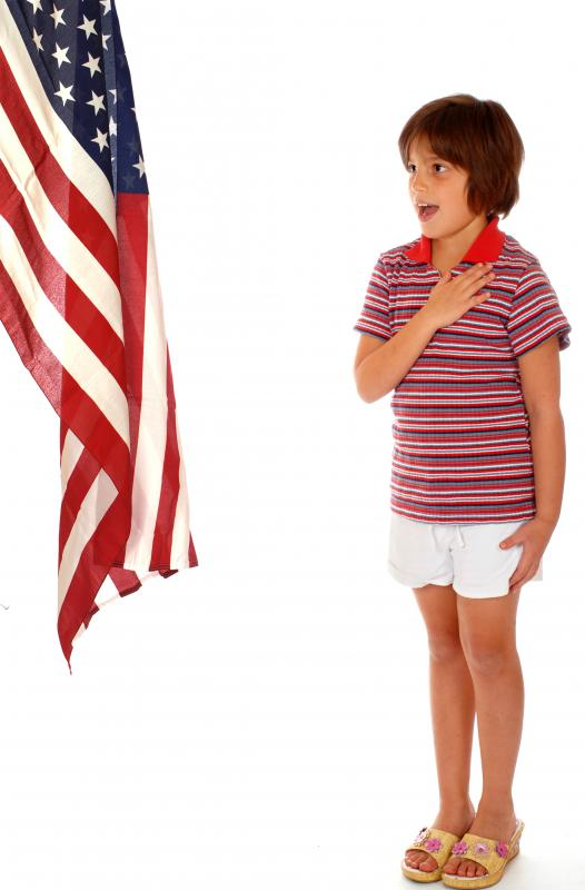 Patriotism is often cultivated in many schools in the U.S.