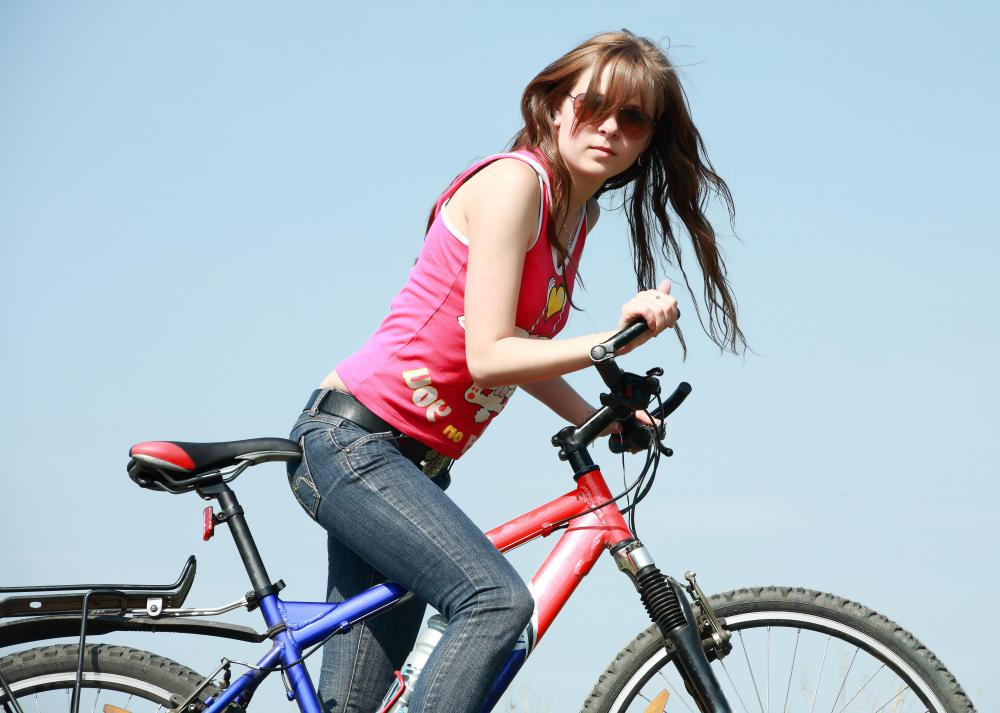 Riding a bike can help an individual improve cardiovascular health.